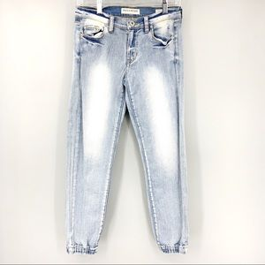 Bullhead Washed Out Denim Jogger Size 1